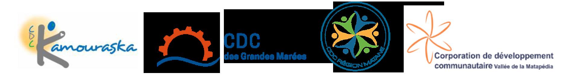 CDC du Kamouraska, CDC des Grandes Marées, CDC Région Matane et CDC de la Vallée de la Matapédia